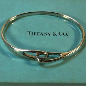 "Tiffany & Co. Jewelry - Infinity Interlocking Love Bangle Bracelet 7"""
